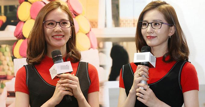 刘诗诗戴眼镜造型小清新 面露甜笑心情好