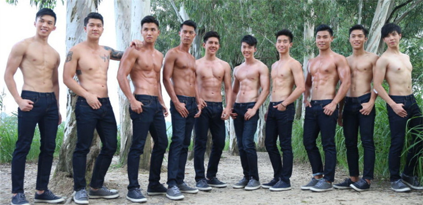都是肌肉!香港先生十强脱衣秀健美身材