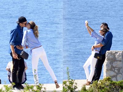 超模的爱情!邦辰与老公忘情拥吻玩自拍