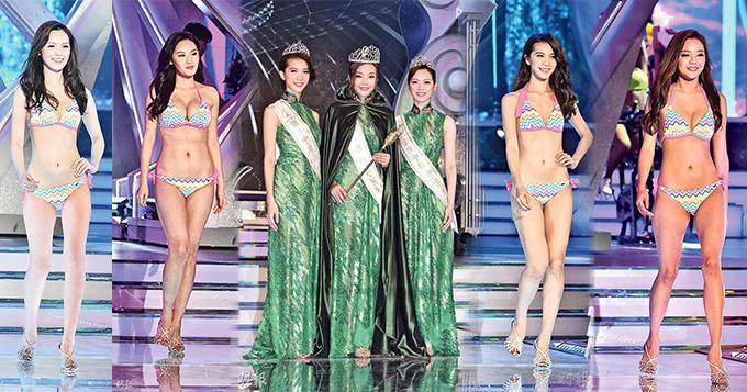 2017国际中华小姐三强出炉 众佳丽泳装秀好身材