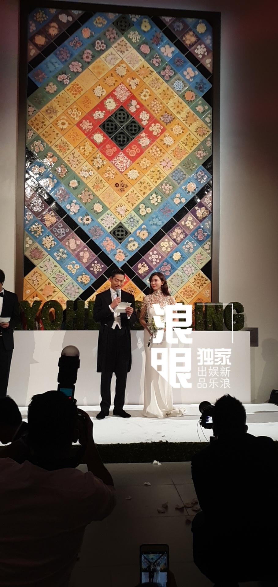 组图:张歆艺袁弘夫妇为林志玲婚宴致辞 木村拓哉录视频祝福新人