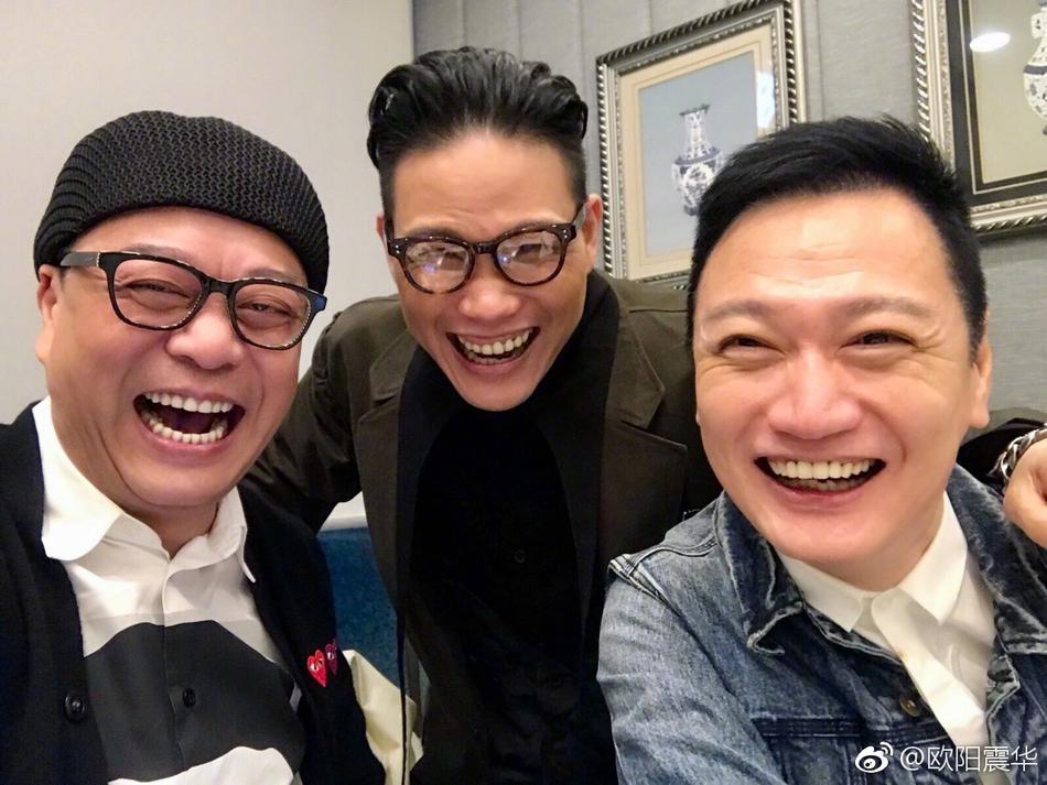 邓萃雯欧阳震华林保怡tvb老戏骨聚餐合影图片