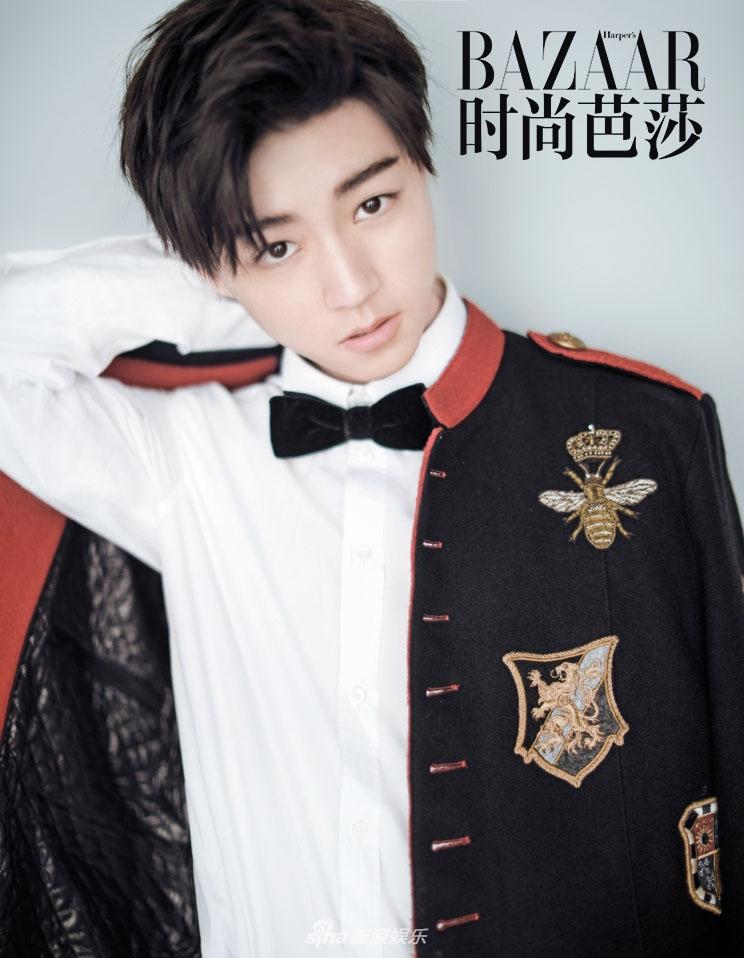 成为首次拿下时尚五大刊金九单人封的华人男星.-组图 王俊凯金九