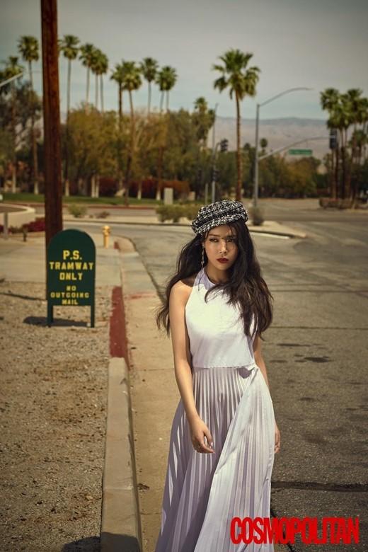 组图:wonder girls原成员金婑斌拍写真 漫步美国公路