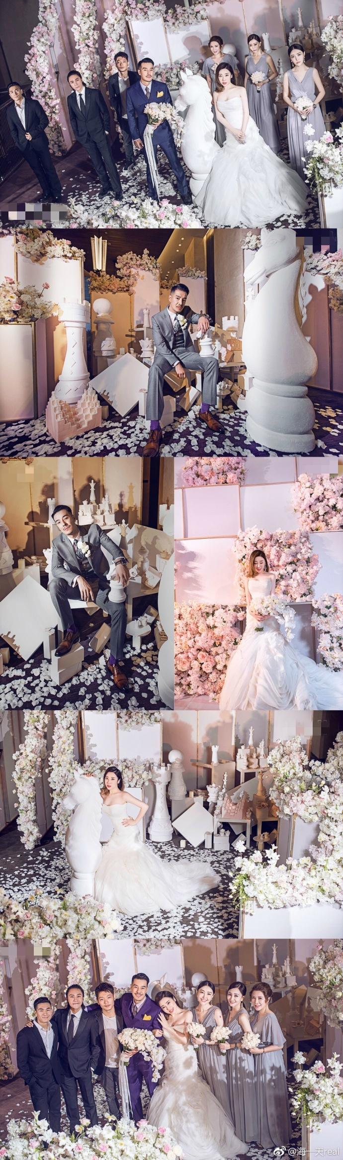 海一天晒婚礼照温馨浪漫 李冰冰陈坤廖凡何冰等齐现身