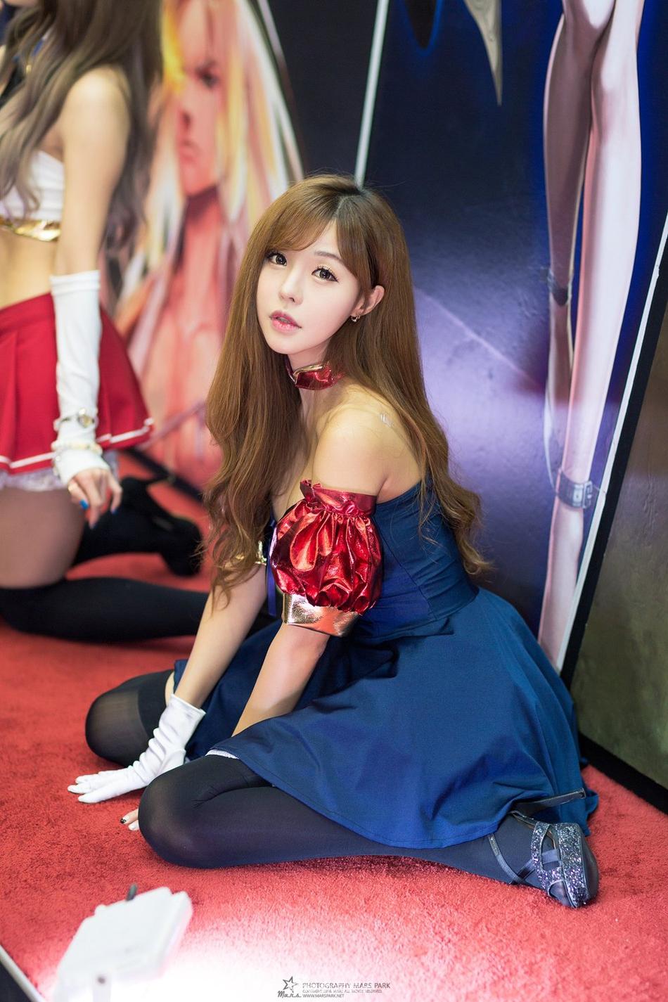 高清套图:韩国人气showgirl造型甜美呆萌可爱
