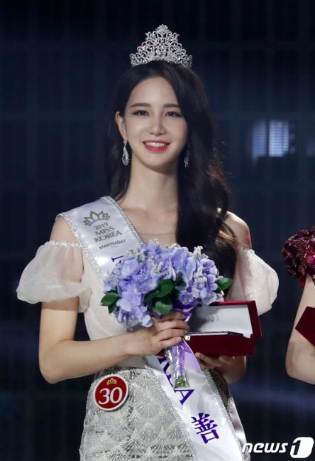 组图:2019韩国小姐选美大赛落幕 冠亚季军出炉颜值你品品