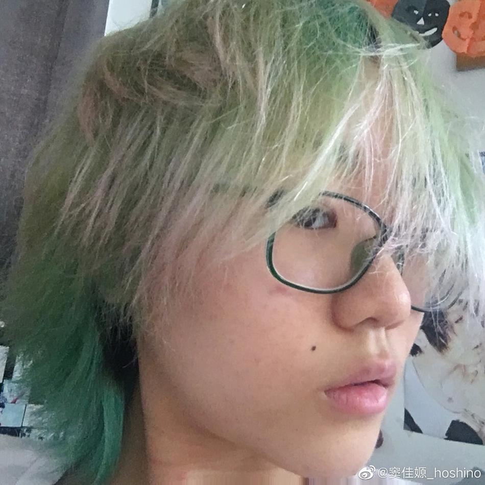闷青抹茶绿头发颜色