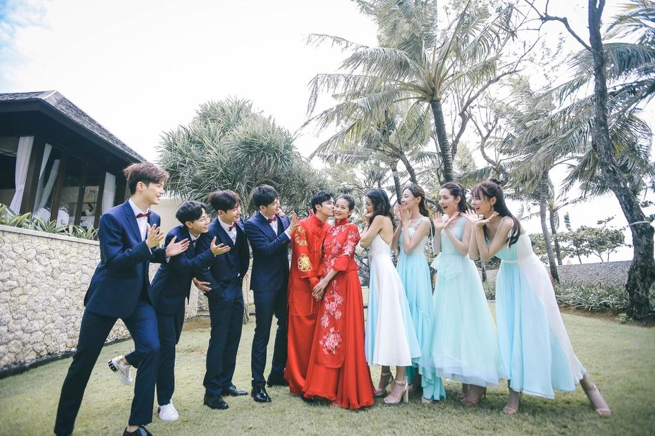 付辛博颖儿巴厘岛举办婚礼 伴郎伴娘是他们伴手礼超豪华