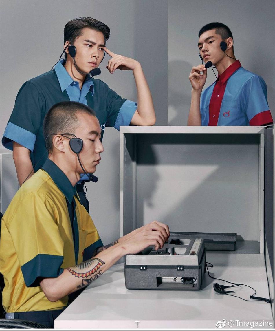 组图:李易峰中分黑镜框造型创意十足 光影下侧脸突显长睫毛