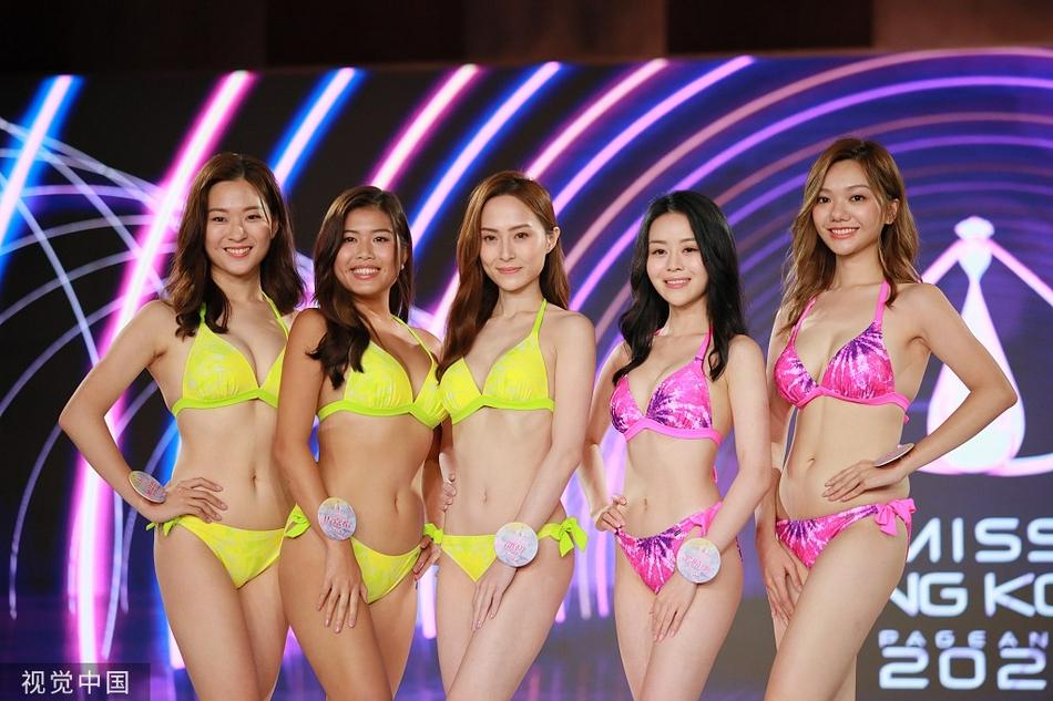 组图:24名港姐参选佳丽泳装环节大秀好身材