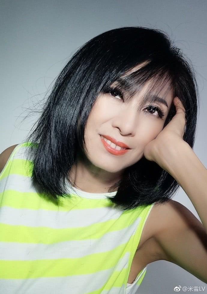 """4 / 9 新浪娱乐讯 近日,米雪在微博分享了新发型的美照,并配文写道:""""图片"""