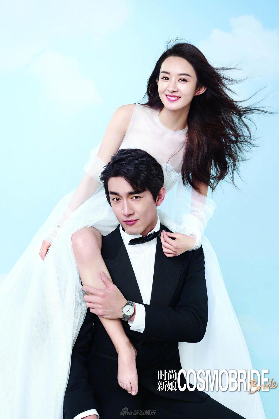 赵丽颖林更新携手拍婚纱大片 摸腿搂腰对笑有点甜图片
