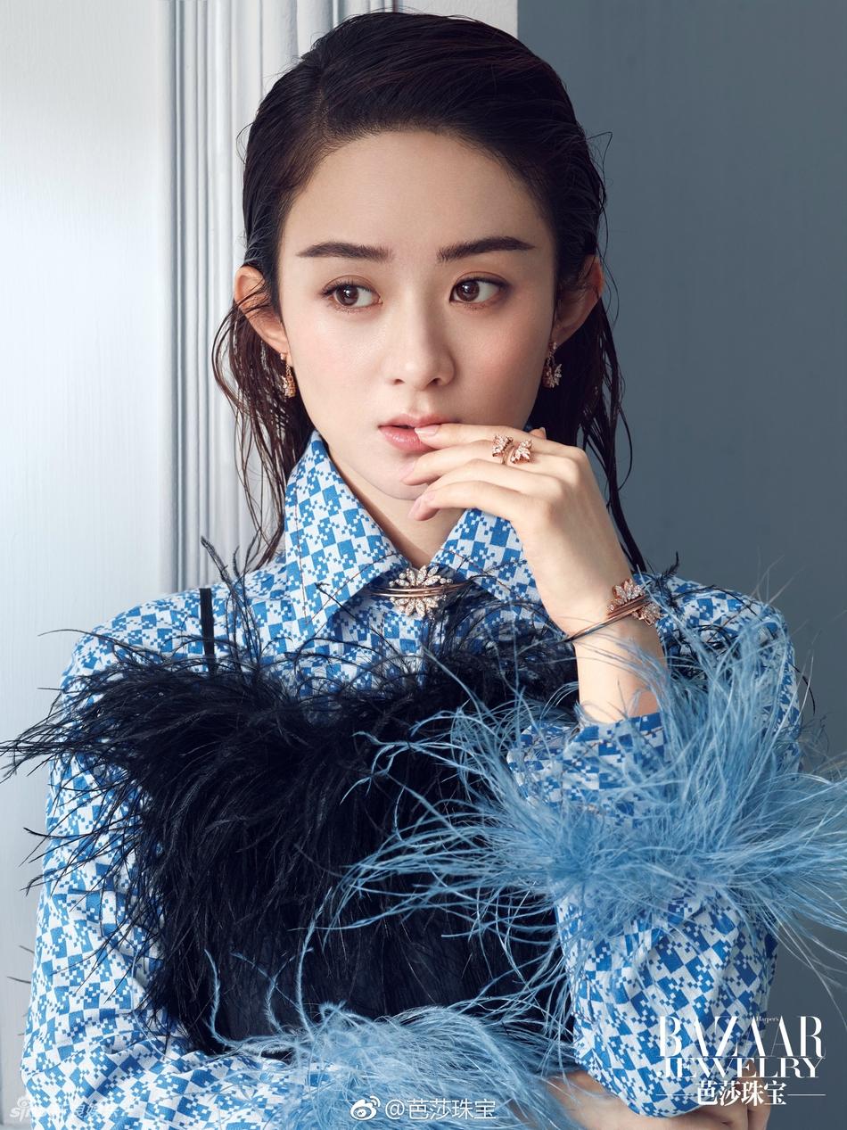 赵丽颖深V登杂志封面 内页更破尺度秀美背 风格偶像 图4