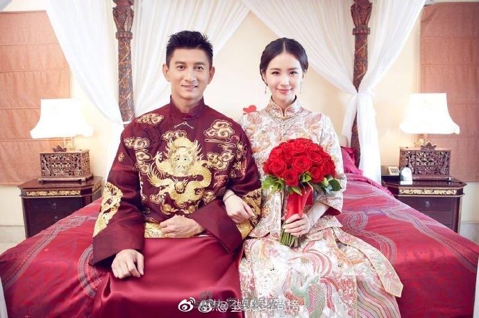 组图:明星中式婚纱照 黄晓明安以轩谁的更靓呢图片