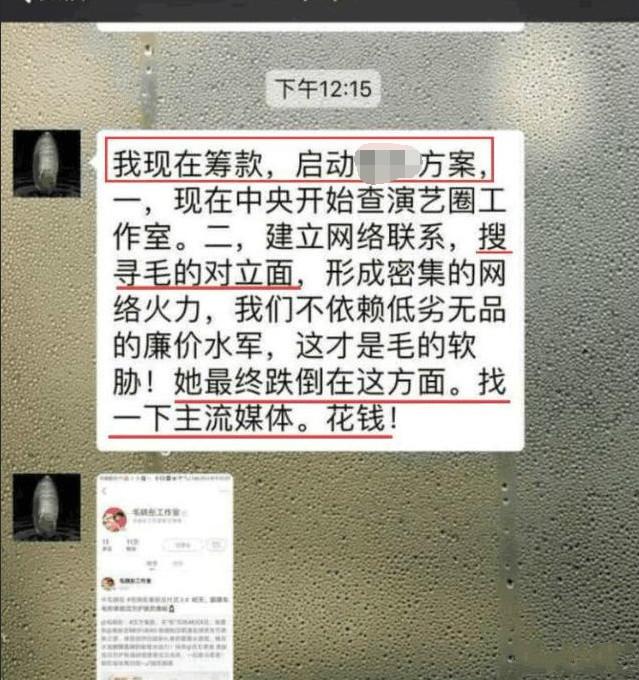 网曝疑似毛晓彤爸爸聊天截图 欲筹款找媒体扳倒女儿