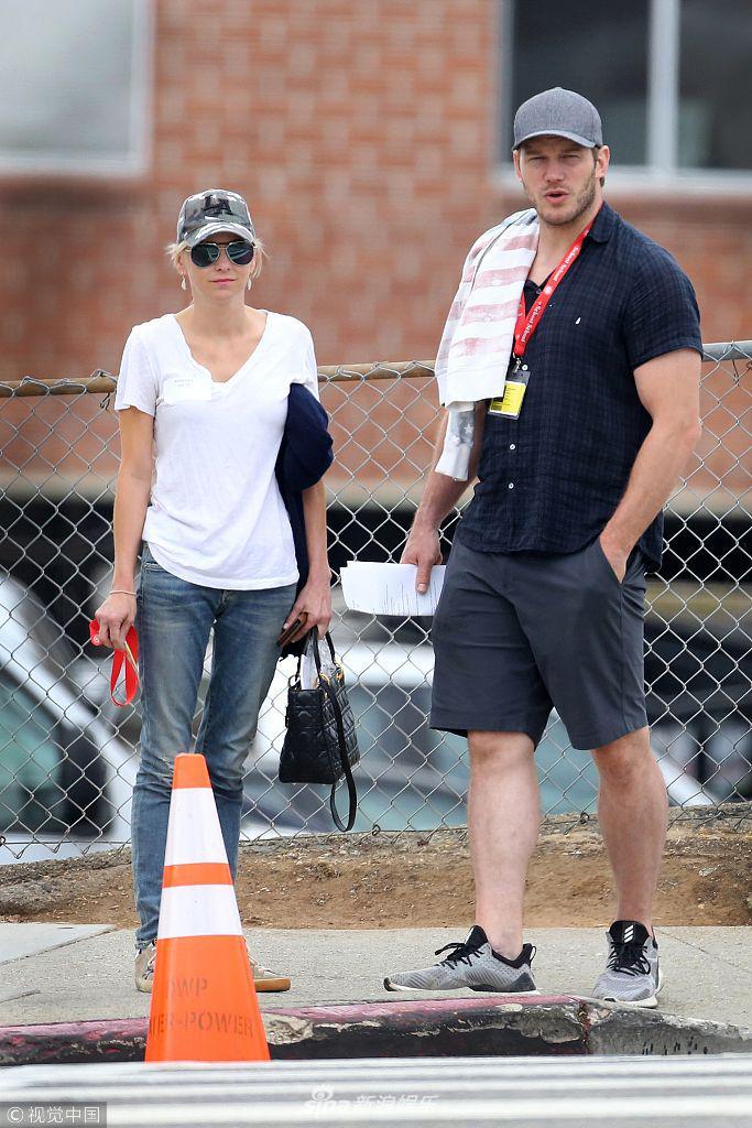 """乐讯 当地时间2018年8月28日,""""星爵""""克里斯·帕拉特和前妻安娜-"""