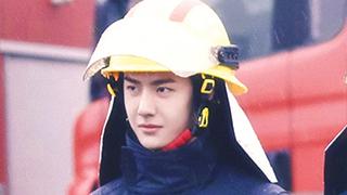 王一博体验消防员生活