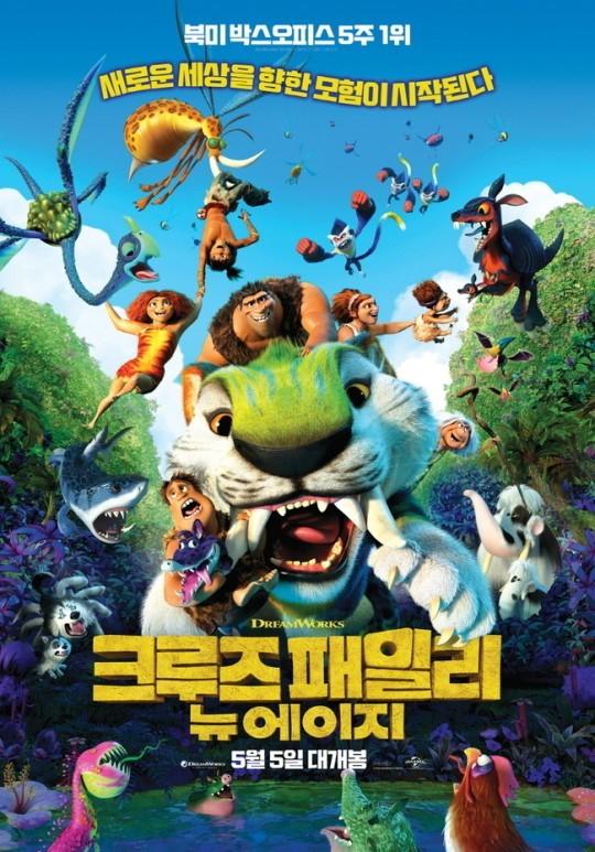 韩影票房:《疯狂原始人2》夺冠 《哈利波特》重映