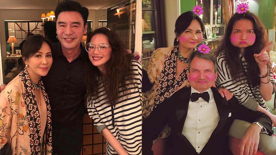 刘嘉玲家中聚会一班好友捧场 与舒淇同框搞怪超可爱