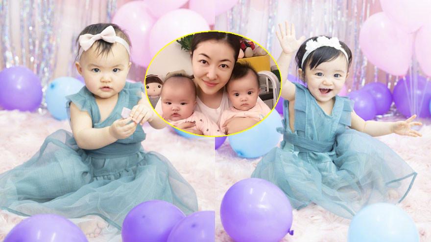 一岁了!熊黛林晒双胞胎女儿艺术照为其庆生萌翻网友