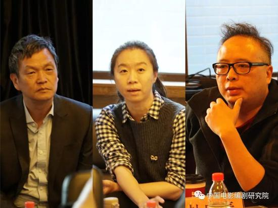 图为文学系教师张献民、刘小磊、杜庆春发言