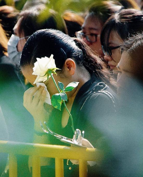 2016年9月22日,上海,乔任梁追悼会。
