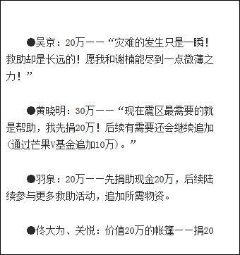 吴京的腾讯微博能找到他和妻子谢楠为雅安就在捐款的微博内容。