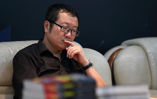 劉慈欣視覺中國資料圖