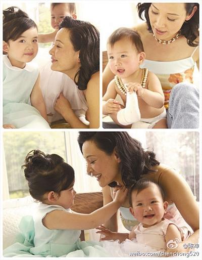 两个女儿是陈冲如今最大的寄托。