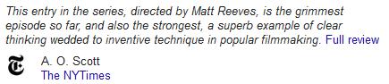 《纽约时报》称其为三部曲中最残酷、最出色的一部