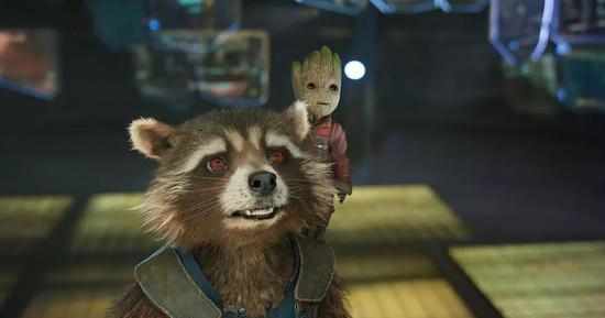 《银河护卫队2》火箭浣熊幼格鲁特