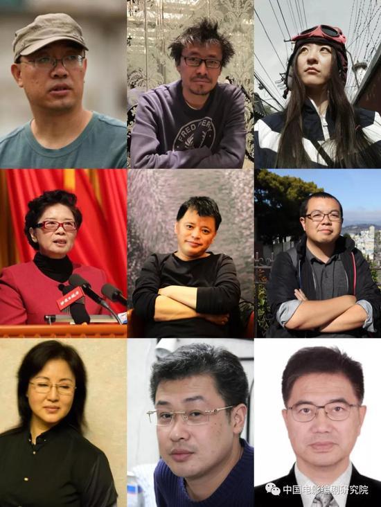 图为中国剧作家代表照片组图