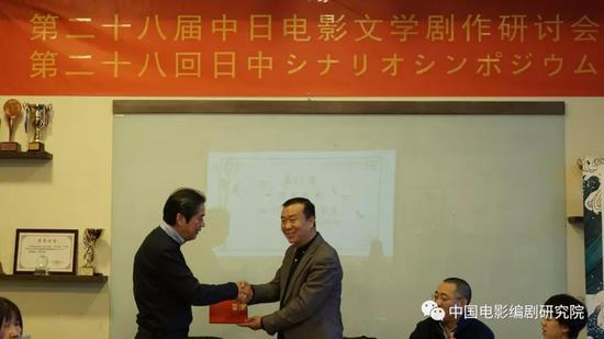 图为北京电影学院副校长孙立军教授