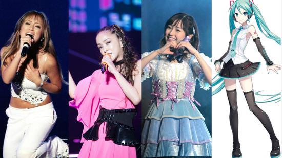 日本的女歌手们。图/视觉中国