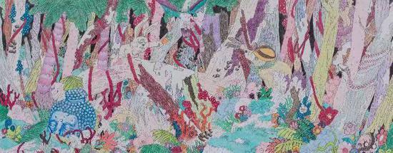 《年轮怪》手绘布景实体与平面图。剧组供图