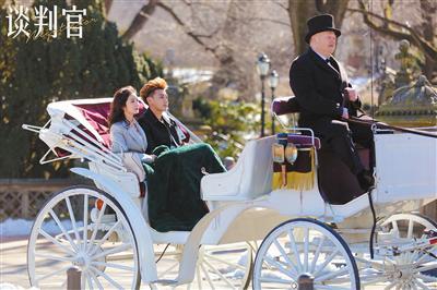 《谈判官》里,男女主角在纽约中央公园约会。