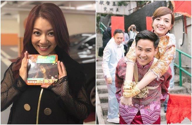 何雁诗(左)被曝在陈嘉宝婚宴上发酒疯大闹,她否认传闻。