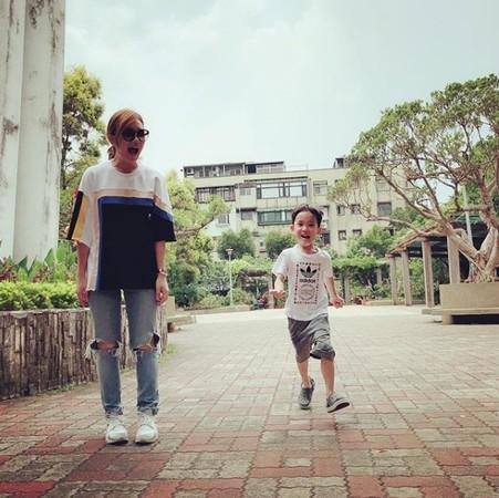 梁靜茹和兒子