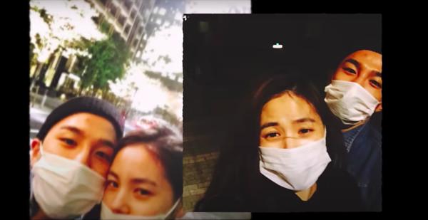 韩国天团BIGBANG成员太阳与妻子闵孝琳