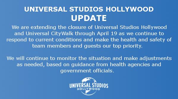 好萊塢環球影城最新聲明