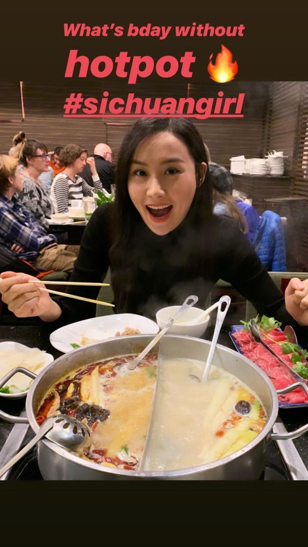 陈法拉吃火锅