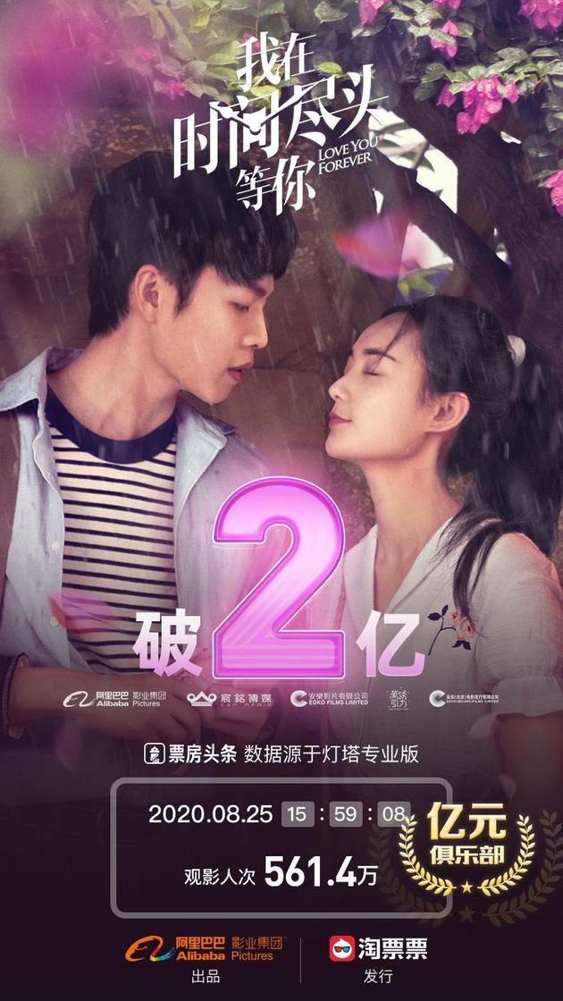 《时间尽头》票房破2亿刷新七夕新片首日票房纪录