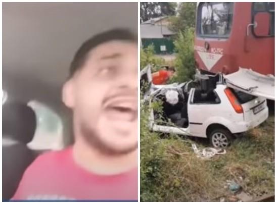 罗马尼亚歌手与妻子直播开车 误闯平交道被撞身亡