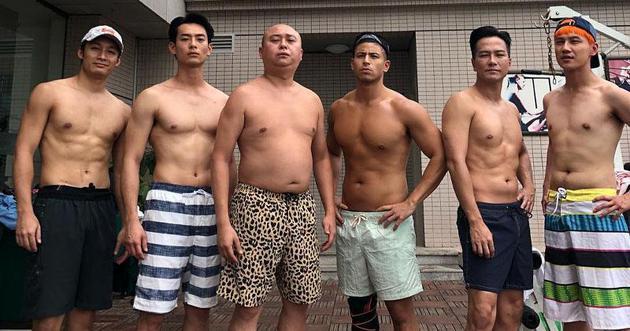 林盛斌前天(7月8日)上載全男班赤裸上身的照片,明顯不夠吸引