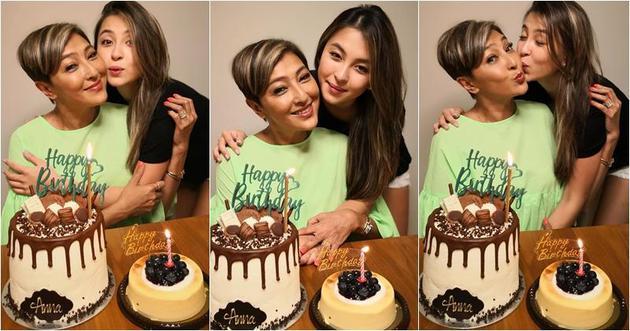 上山詩鈉生日,有女兒Hilary陪伴慶祝。