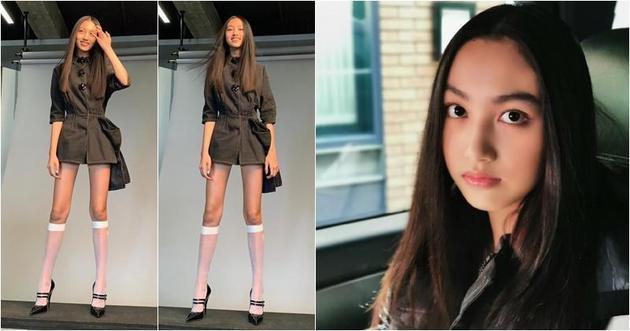 任达华与名模琦琦的女儿任晴佳愈大愈漂亮,而且天生长腿,不知道将来会不会成为新一代名模