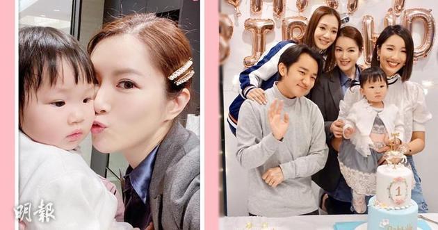 李亞男和王祖藍為女兒舉行一歲生日會,王君馨和茍蕓慧都有出席,茍姑娘還親親Gabby