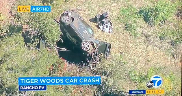 """""""老虎""""伍兹遭遇严重车祸 已送医院伤势不明"""