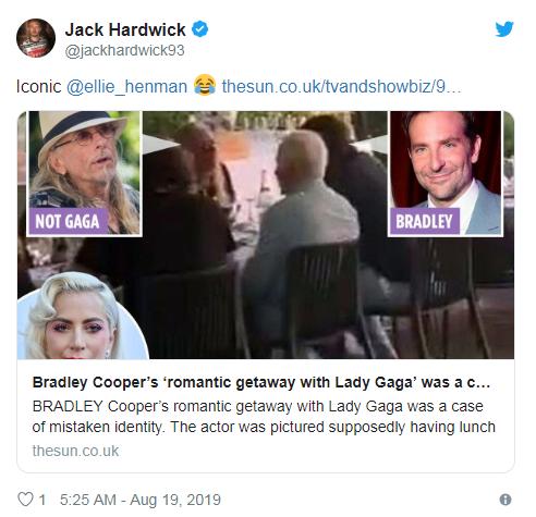 """网传Lady Gaga约布莱德利-库柏 是""""渣画质""""闹乌龙"""